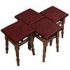 """Комплект из 4-х кухонных табуретов с мягким сиденьем """"Бордовый"""", фото 2"""