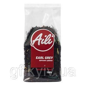Чай Aili Earl Grey з бергамотом (чорний) 100 грамм в упаковке (натуральный, рассыпчатый, крупнолистовой)