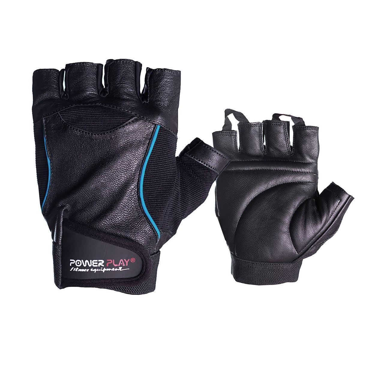 Перчатки для фитнеса и тяжелой атлетики PowerPlay 2128 черные S