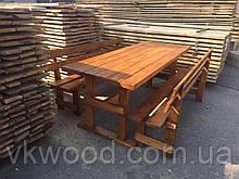 """Уличный вариант из дерева: стол с лавками """"Комфорт"""""""