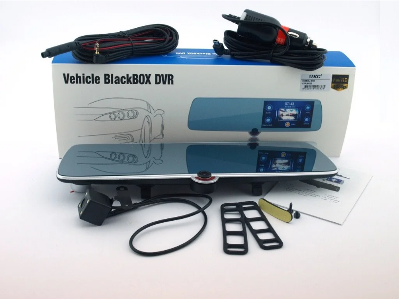 Видеорегистратор-зеркало UKC C33 Vehicle Blackbox DVR на три камеры  5'' + touch FullHD
