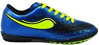 Детские футбольные сороконожки 38 синие Walked Sport 373-07
