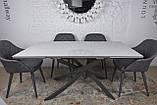 Стіл Nicolas Lincoln 4626L (160/240*90) кераміка, білий глянець, фото 6