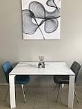 Стол Nicolas Liverpool S керамика 140 белый глянец, фото 9