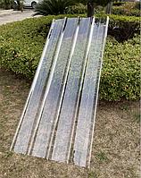 Поликарбонат литой волновой прозрачный 910х2000х1 мм листовой