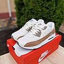 Чоловічі кросівки в стилі Nike Air Max 90 білий з коричневим, фото 2