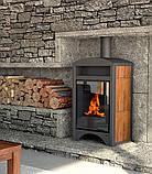 Опалювальна піч-камін тривалого горіння AQUAFLAM VARIO BARMA (водяний контур, горіх), фото 6