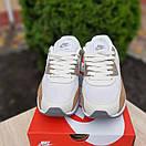 Чоловічі кросівки в стилі Nike Air Max 90 білий з коричневим, фото 4