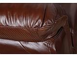 Диван Бостон коричневий з перфорацією 3SB, фото 5