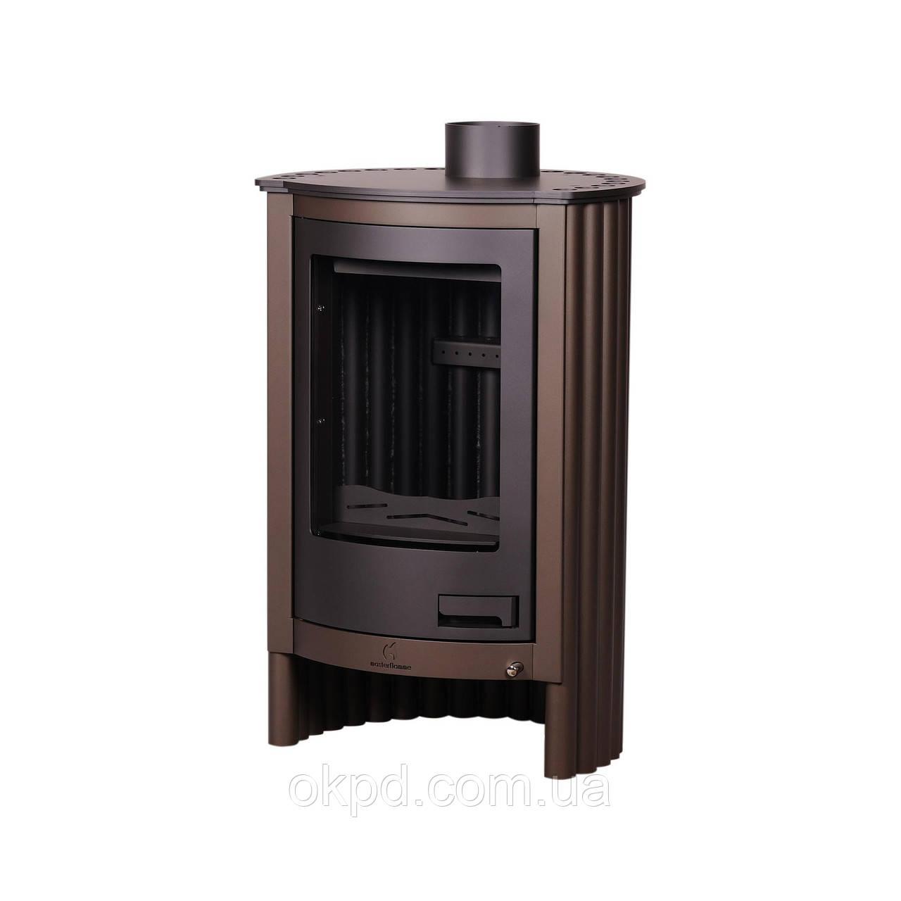 Отопительная печь-камин длительного горения Masterflamme Piccolo I (коричневый бархат)