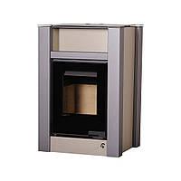 Отопительная печь-камин длительного горения AQUAFLAM VARIO LEND (водяной контур, кремовый металлик), фото 1