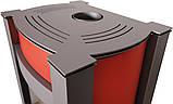 Отопительная печь-камин длительного горения AQUAFLAM VARIO KALMAR (водяной контур, красный), фото 2