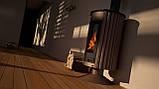 Опалювальна піч-камін тривалого горіння Masterflamme Медичних II (коричневий вельвет), фото 5