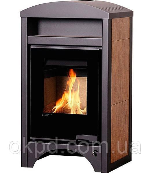 Опалювальна піч-камін тривалого горіння AQUAFLAM VARIO BARMA (горіх)