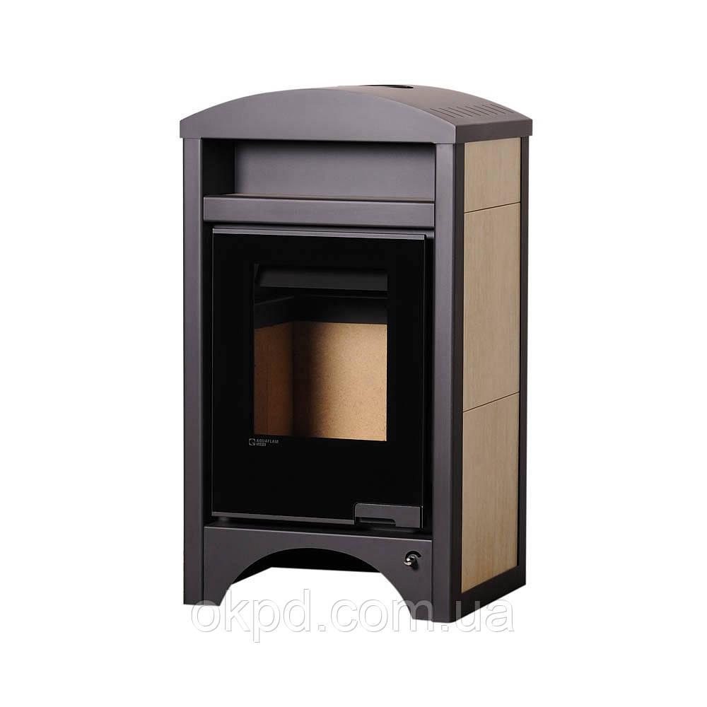 Отопительная печь-камин длительного горения AQUAFLAM VARIO BARMA (клен)