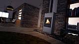 Отопительная печь-камин длительного горения AQUAFLAM 17 (водяной контур, ручная рег, серый), фото 7