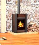 Опалювальна піч-камін тривалого горіння AQUAFLAM VARIO LEND (коричневий оксамит), фото 6