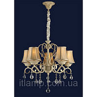 Люстра светильник подвесной на 5 рожков кремового цвета Levistella 755MK30119-5 CRM+GLD