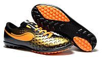 Детские футбольные сороконожки 37 коричнево-черные Walked Sport 375-02