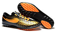 Детские футбольные сороконожки 38 коричнево-черные Walked Sport 375-03