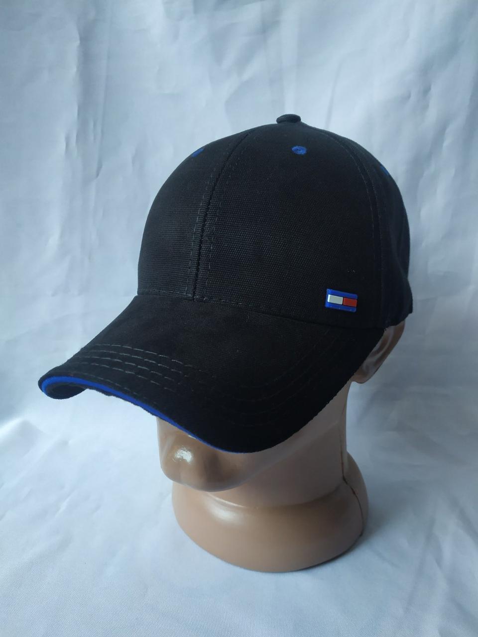 Весенне-летняя мужская кепка-бейсболка с логотипом Томми Хилфигер черный/синий