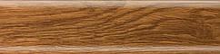 Плінтус пластиковий Salag 26 (Тасманійський дерево з кабель каналом підлоговий пластиковий плінтус)