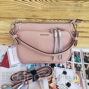 Женская стильная сумка на три отделения через плечо Velina Fabbiano 1978