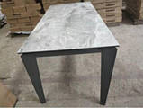 Стол Nicolas Alta DF511T 120 керамика серый глянец, фото 2