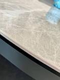 Стол Nicolas Cambridge 4627L 125 керамика серый глянец, фото 6