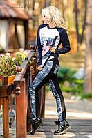 Трикотажні жіночі, використання стилізованих під джинсову тканину, турецький трикотаж, фото 1