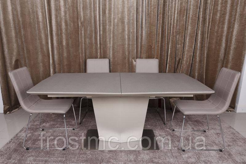 Стол Nicolas Michigan HT2368 (180/230*95)  стеклокерамика мокко/пудра