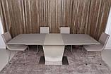 Стол Nicolas Michigan HT2368 (180/230*95)  стеклокерамика мокко/пудра, фото 3