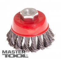 MasterTool Щетка торцевая из плетеной проволоки D125 М14, Арт.: 19-7012