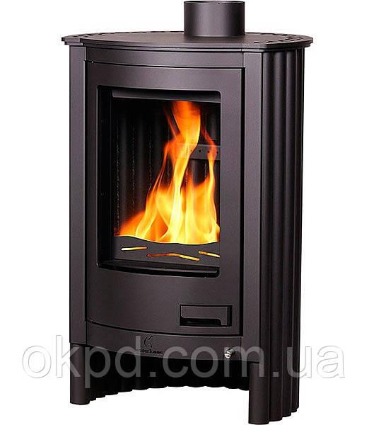 Отопительная печь-камин длительного горения Masterflamme Piccolo I (черный)