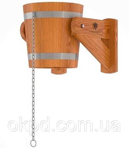 Відро-водоспад з модрини 12 л для лазні та сауни