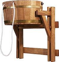 Відро-водоспад дубове 23 л для лазні та сауни