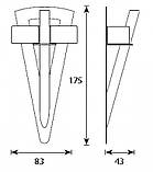 Светильник для хамама Cariitti Факел TL 100 LED с акриловым стержнем, фото 2