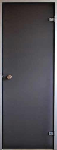 Стеклянная дверь для хамама Saunax Classic 70х190, прозрачная бронза