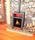 Опалювальна піч-камін тривалого горіння AQUAFLAM VARIO LEND (водяний контур, червоний), фото 7