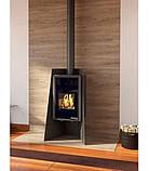 Отопительная печь-камин длительного горения FLAMINGO DELUXE ISLAND (черный), фото 2