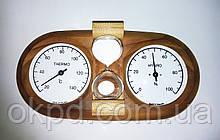 Термогигрометр струнный + песочные часы (15 мин) термобереза для бани и сауны