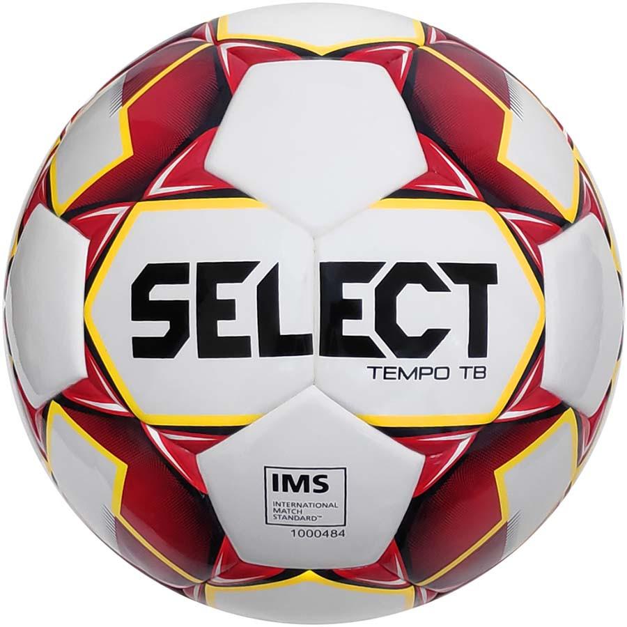 Мяч футбольный Select Tempo IMS размер 5 бело-красый