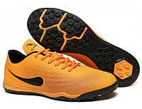 Детские футбольные сороконожки 34 оранжевые Walked Sport 062-01