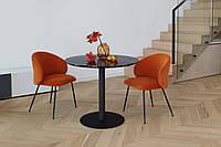 Кофейный столик Т-320 черная магма от Vetro Mebel, D90 см