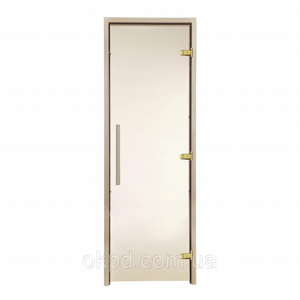 Дверь GREUS Premium сауна 80х200 бронза матовая