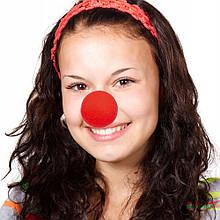 Нос клоунский поролоновый красный 1431