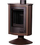 Отопительная печь-камин длительного горения Masterflamme Piccolo II (коричневый бархат), фото 2