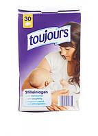 Лактационные вкладыши для кормления 30 шт. toujours