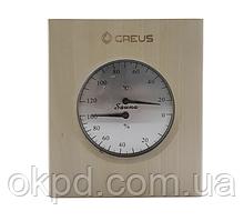 Термогигрометр Greus 16х14,5 липа для бани и сауны