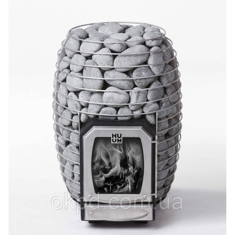 Дровяная печь для бани и сауны HUUM HIVE Wood LS 17 kW выносная топка